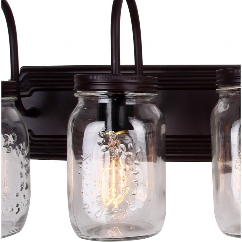 Benefield Mason Jar 5 Light Vanity Light Wall Sconce