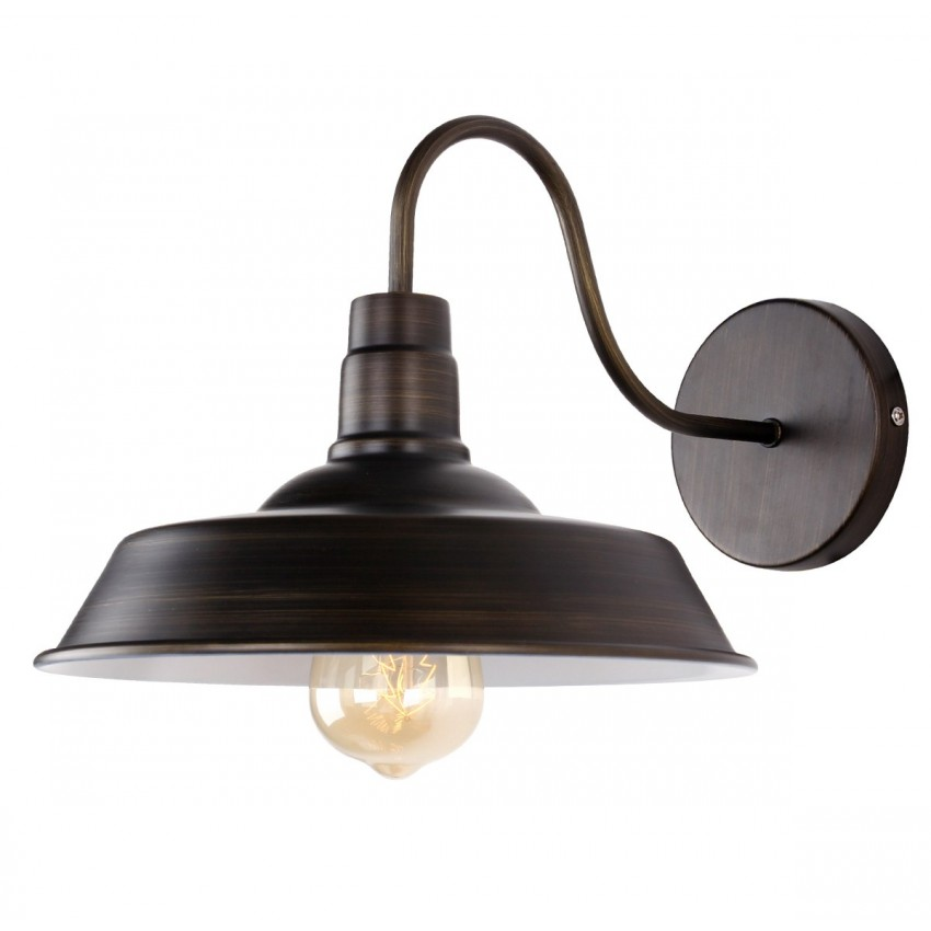 Industrial Barn Lamp Gooseneck Wall Sconce, Black