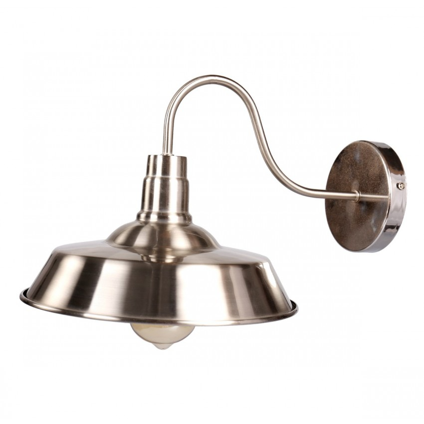 Barn Gooseneck Wall Sconce Farmhouse, Satin Nickel