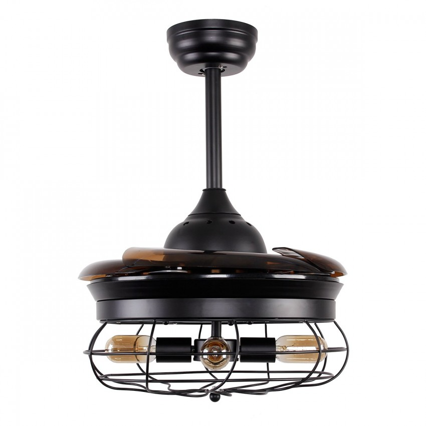 36 Inch Industrial Caged Ceiling Fan With Remote Control