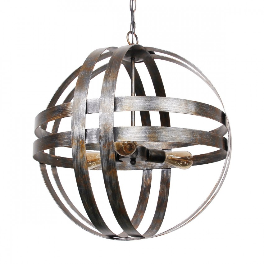 atom wine barrel chandelier