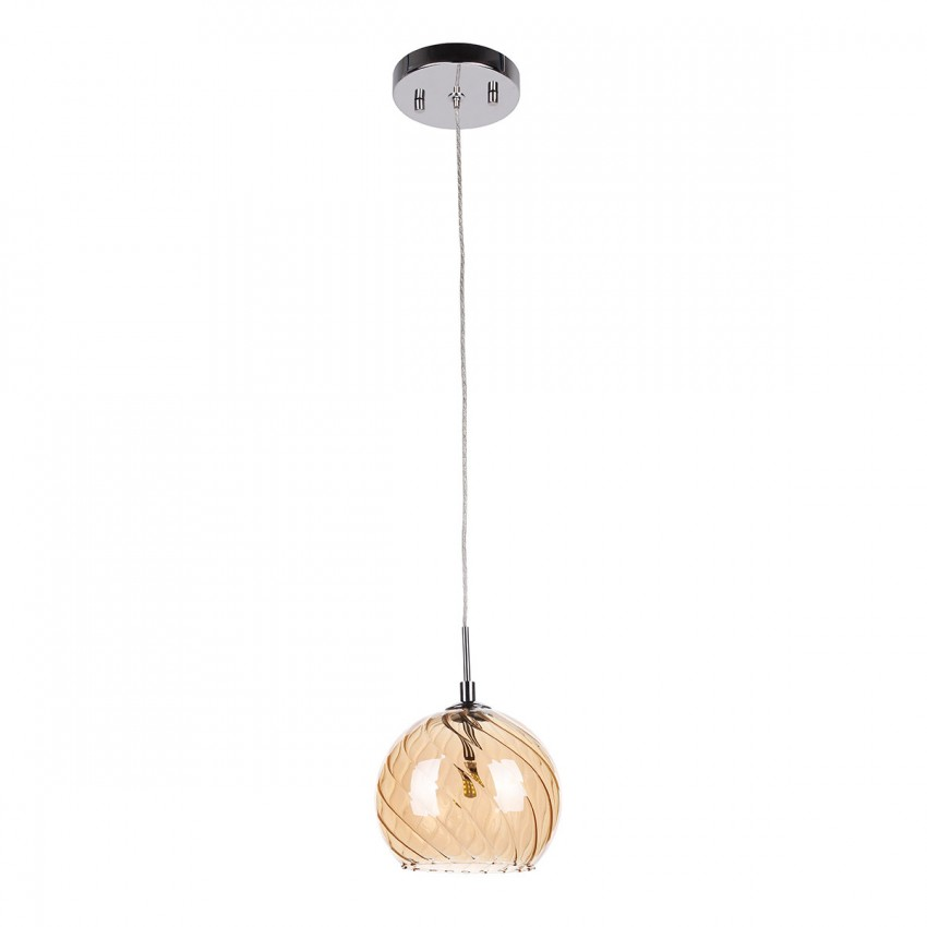 Orb Clear and Nickel Ceiling Pendant