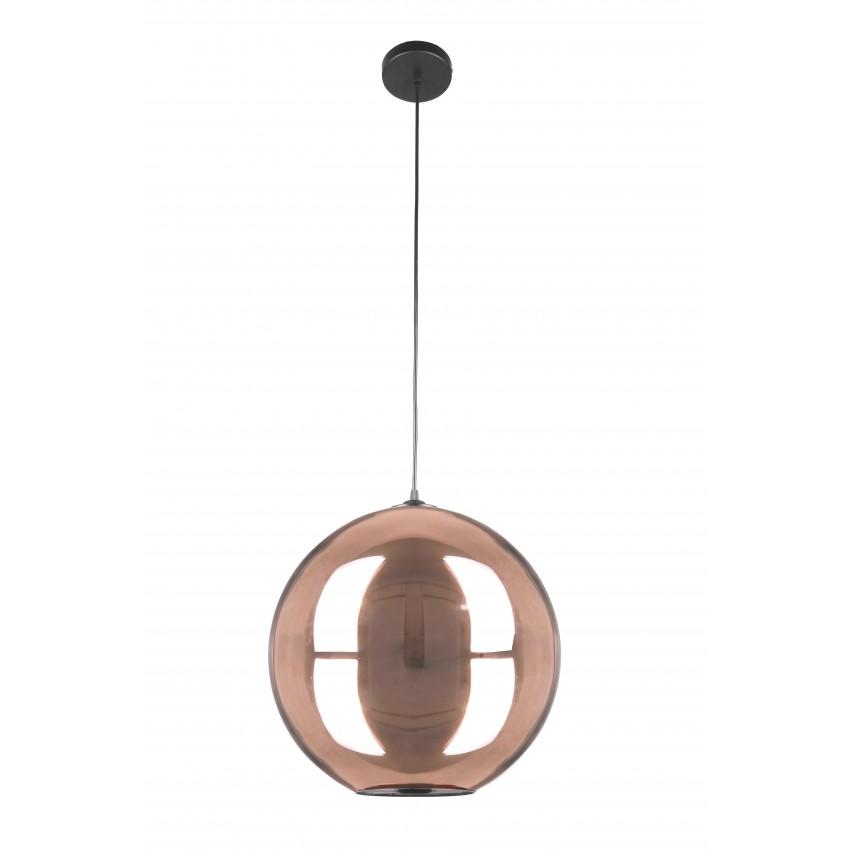 Copper Mirror Ball Pendant Light, Extra Large