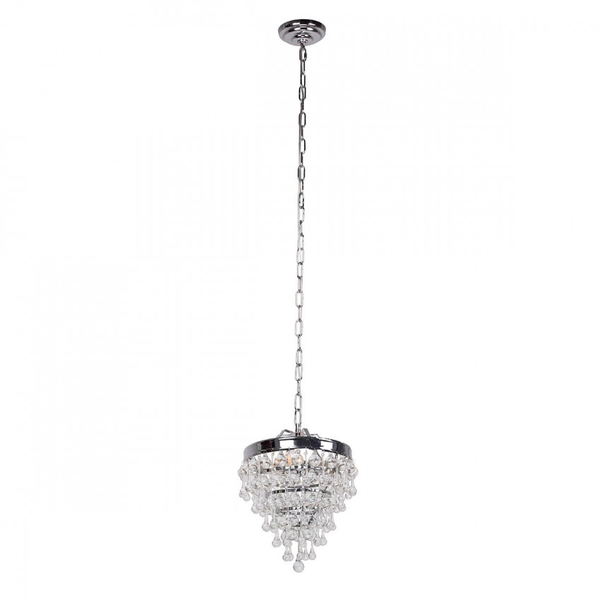 Sturbridge 3-Light Crystal Pendant, Chrome