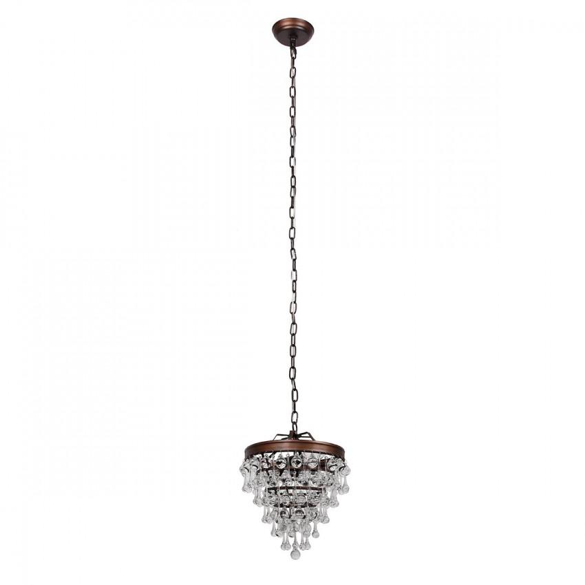 Sturbridge 3-Light Crystal Pendant, Bronze