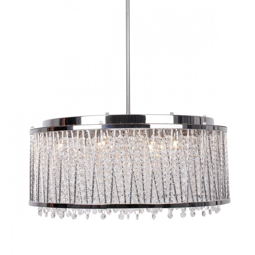 More Views 10 Light Crystal Chandelier With Drum