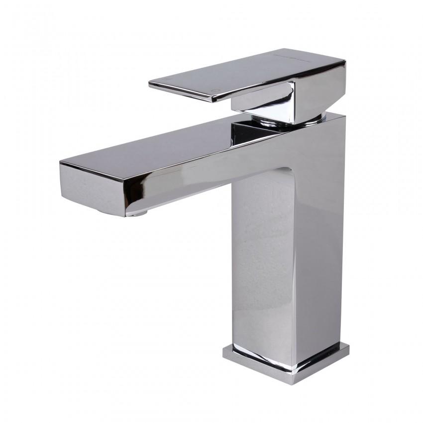 Modern Single Handle Bathroom Faucet, Chrome
