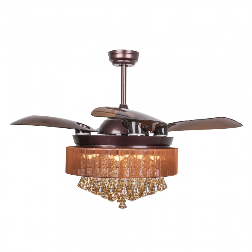 43 Quot Birchley 4 Blade Led Ceiling Fan With Remote Bronze