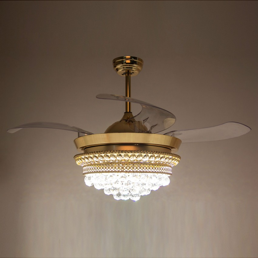 42 Inch Modern Led Ceiling Fan With Lights And Remote