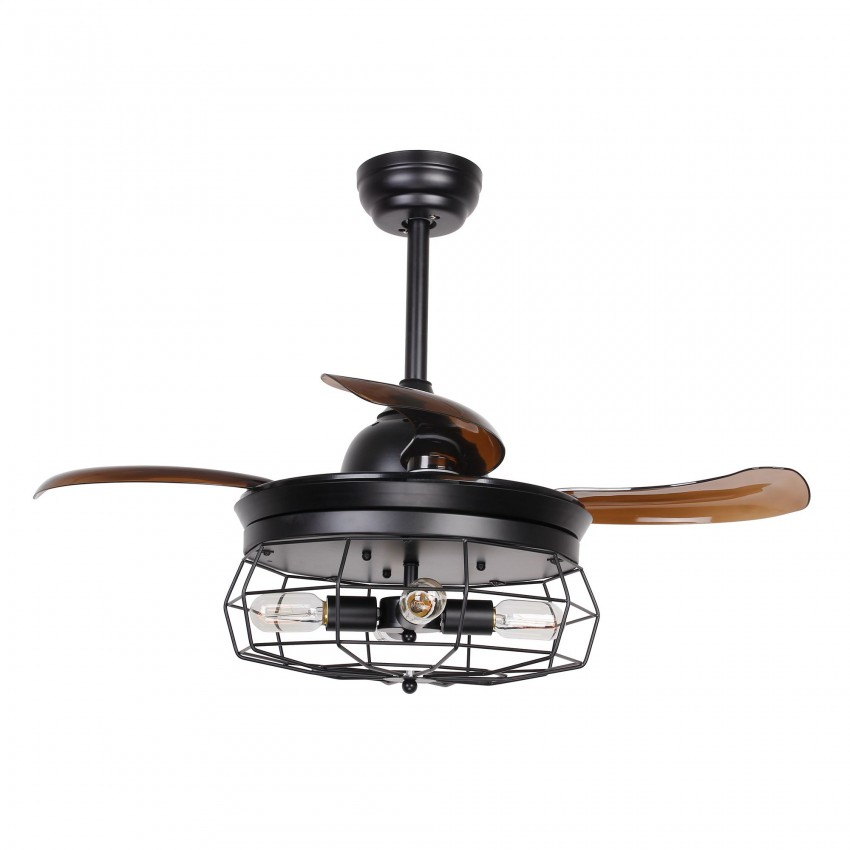 36 inch industrial caged ceiling fan with remote control fandelier more views 36 inch industrial caged ceiling fan aloadofball Images