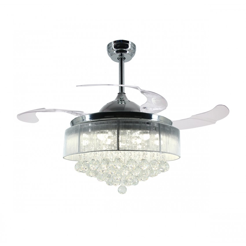 42 5 Foldable Blades Led Ceiling Fan With Light And