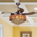"""43"""" Birchley 4 Blade LED Ceiling Fan with Remote, Bronze"""