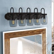 Benefield Mason Jar 5-Light Vanity Light