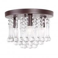 3-Light Crystal Semi Flush Mount Ceiling Lights