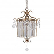 Silver Glass Chandelier