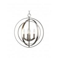Progress Lighting Equinox 4-Light Pendant, Burnished Silver