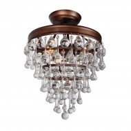 Devanna 3-Light Semi Flush Mount, Bronze