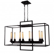 Borkowski 6-Light Linear Chandelier, Aged Bronze