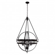Hemispheres 4 Light Chandelier, Oil Rubbed Bronze