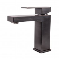 Modern Single Handle Bathroom Faucet, Oil Rubbed Bronze