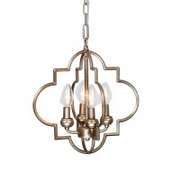 Astin 4-Light Candle Style Chandelier, Antique Gold