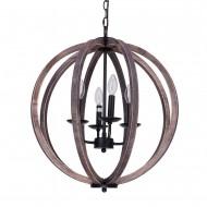 Allier 4-Light Chandelier, Weathered Oak Wood