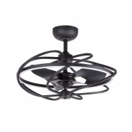 27 Inch Solstice Modern LED Reversible 3 Blade Ceiling Fan with Lights and Remote Fandelier, Black