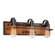 Lofty 3 Light Steel Vanity Fixture
