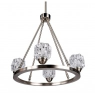 4-Light Modern Kitchen Chandelier with Glass Shades