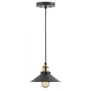 Andante Factory Pendant Light, Antique Brass