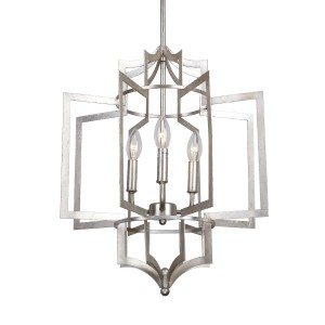 Salento 3-Light Chandelier, Antique Silver