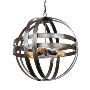 Atom Wine Barrel Chandelier