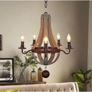 Amata Flask Shape 5-Light Empire Chandelier
