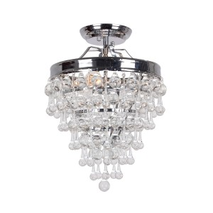 Devanna 3-Light Semi Flush Mount, Chrome