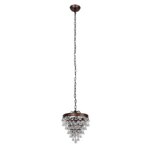 Sturbridge 3-Light Crystal Pendant, Bronze
