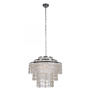 Devry 3-Light Seashell Chandelier