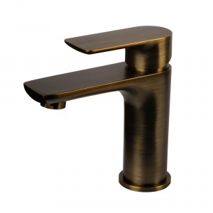Modern Single Handle Project Pack Lavatory Faucet, Green Bronze