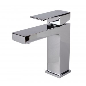 Modern Single Handle Bathroom Faucet, Chrome