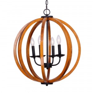 Allier 4-Light Chandelier, Brown