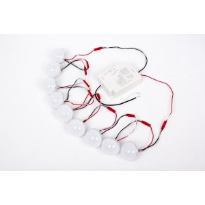 32W Ceiling Fan LED Bulb, 3000K Warm White / 4000K Cool White