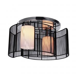 Arc 2-Light Glass Semi-Flush Mount, Black