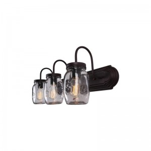 Bendel Mason Jar 3-Light Vanity Light